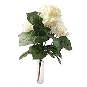 famibay Artificial Rose 2pcs, Elegant Fake Flowers Bridal Wedding Bouquet Silk Plastic Faux Floral with Stems for Home Party Decoration 4
