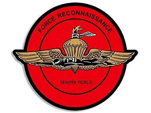 MAGNET Round Force Reconnaissance Wings w DIVER Seal Sticker (Marines Recon USMC) Magnetic vinyl bumper sticker sticks to any metal fridge, car, signs