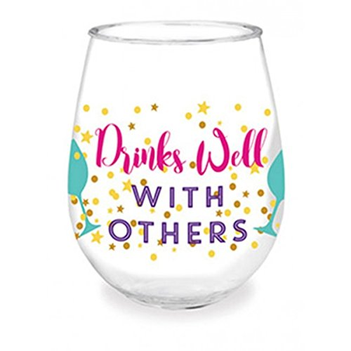 Drinks Well With Others Acrylic Stemless Wine Tumbler, 16 oz (Single)