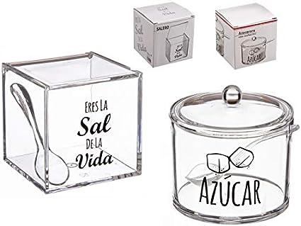 Sintetico DCASA Azucarero Acrilico con Cuchara HOME unisex adulto