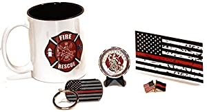 11.oz Fire and Rescue Coffee Cup w/ Challenge Coin Ultimate Gift Pack Vol 1 by Beall's Bay