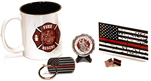 11.oz Fire and Rescue Coffee Cup w/ Challenge Coin Ultimate Gift Pack Vol 1 ()