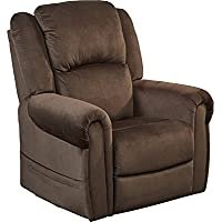 Catnapper Spencer Power Lift Lay Flat Recliner in Chocolate