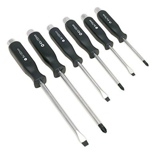 Screw Sealey (Sealey Screwdriver Set Hammer-Thru 6Pc)