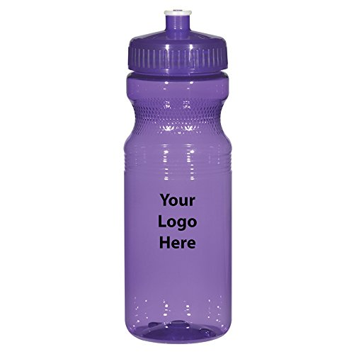 Poly-Clear 24 Oz. Fitness Bottle - 100 Quantity - $1.75 Each - PROMOTIONAL PRODUCT / BULK / BRANDED with YOUR LOGO / CUSTOMIZED