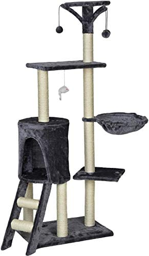 MaxxPet Cat Scratching Post Grey 50 x 35 x 138 cm