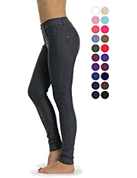 Women's Jean Look Jeggings Tights Slimming Many Colors...