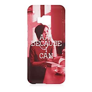Loud Universe HTC One M9 I Am Because I Can Print 3D Wrap Around Case - Red/White