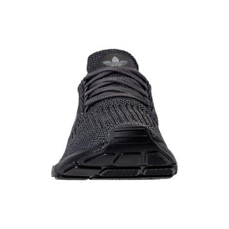 Adidas Mens Swift Run Primeknit Originali Scarpe Da Corsa Grigio Cinque / Core Nero