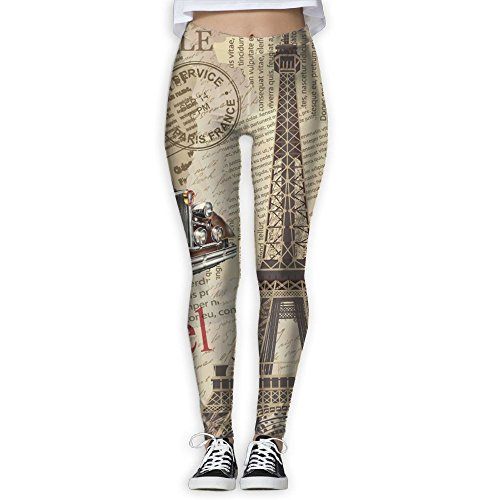 Tour Eiffel Women Cute Sports Yoga Pnats 3D Print Stretch Yoga Jogger - Cartagena Center Usa