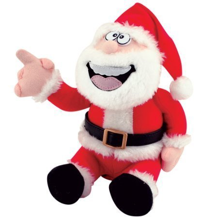 Santa Claus Christmas Doll (Pull My Finger Animated Farting Christmas Santa Claus Novelty Plush Doll Toy)