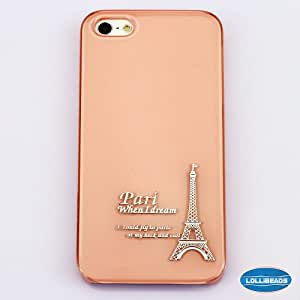 Orange Eiffel Tower - LolliDesigne JellyCase Hard Shell Anti-Scratch Premium Light Feeling Case for iPhone 5 5th