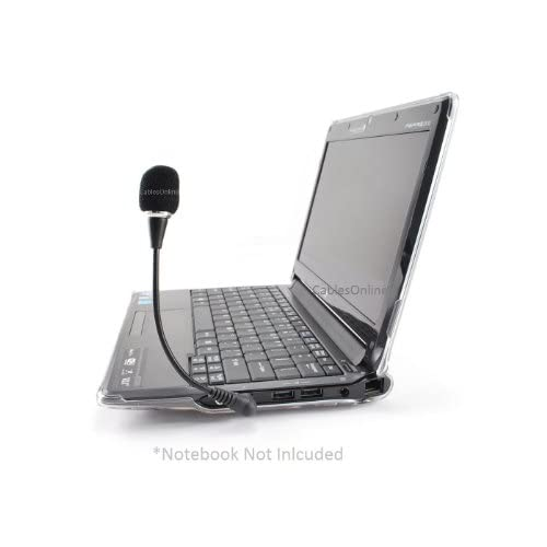 """6/"""" Travel Mini Flexible Hold 3.5mm Stereo Microphone for Laptop//Notebook Skype"""