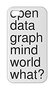 open data graph mind world what? Iphone 5-5s plastic case