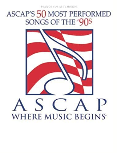 Read ASCAP's 50 Most Performed Songs of the '90s: Piano/Vocal/Chords by Staff, Alfred Publishing (1999) Sheet music PDF, azw (Kindle), ePub, doc, mobi