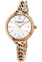 Stuhrling Original Women's 624M.03 Vogue Swiss Quartz Rose Tone Link Bracelet Watch