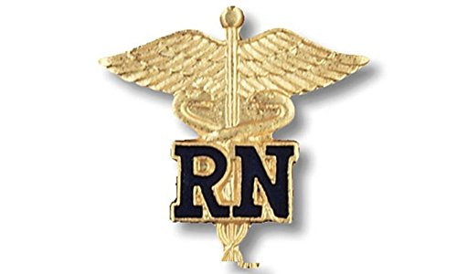 EMI Rn Registered Nurse Emblem Pin Caduceus