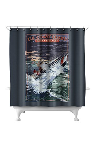 U.S. Coast Guard - 44 Foot Motor Life Boat (71x74 Polyester Shower Curtain) - Coast Guard Motor Lifeboat