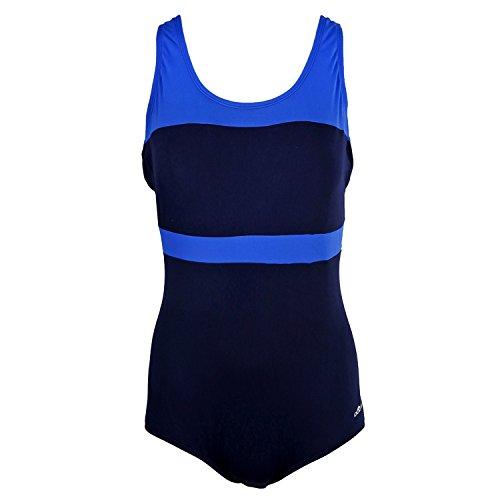 Colorblock Suit (Dolfin COLOR-BLOCK CONSERVATIVE LAP SUIT WOMENS NAVY/ROYAL SIZE 10)