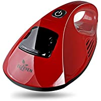EULEVEN UV Handheld Vacuum Cleaner, Hot Wind Bed Vacuum Cleaner Dust Mite Killer Anti-Bacterial with Vibrating Single Pad