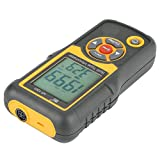 Akozon Digital Precision Split Type Vibration Meter HT-1201 Acceleration Sensor Gauge with LCD Backlight Vibration Analyzer Tester Acceleration Velocity Displacement Measurement for Moving Machinery