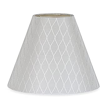 Lamp Shade Diamond Bell in White Small 9-Inch - - Amazon.com