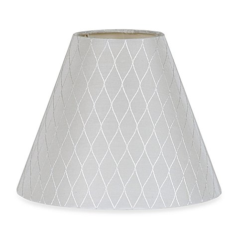 Lamp Shade Diamond Bell in White Small 9-Inch