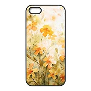 Art white flowers Phone Case for iPhone 5S(TPU)