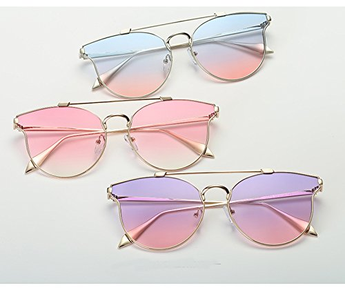 Transparent Sunglasses Men Sunglasses Women Korea Fauhsto Ocean Shot Silver Personality and Color Lens Film Unisex Eyewear Street Frame Metal Sunglasses transparent wqXqxOdPv