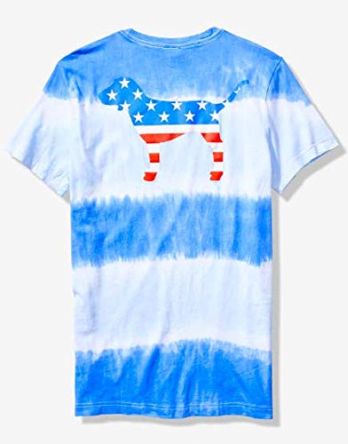 c9b7d133 Amazon.com : VICTORIA SECRET PINK - AWESOME RED WHITE AND BLUE tie dye  BLING 4TH FOURTH OF JULY TEE - AMERICAN - SIZE MEDIUM - SOLD OUT :  Everything Else