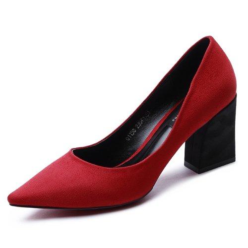 Zapatos Tacones Alto GAOLIM Solo Los Zapatos Home El Diario Zapatos De De De Tacón rojo Hv8qaX