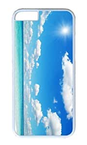 MOKSHOP Adorable Beautiful Beach Hard Case Protective Shell Cell Phone Cover For Apple Iphone 6 Plus (5.5 Inch) - PC White by icecream design