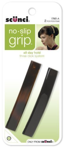 Scunci No-Slip Grip Auto Clasp Barrettes, Colors May Vary 2