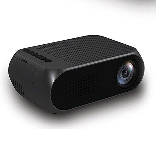 Ocamo Mini Projector Portable LED Projector 1080P HDMI/USB/SD/AV Projector Black For Home Theater Cinema TV European regulations