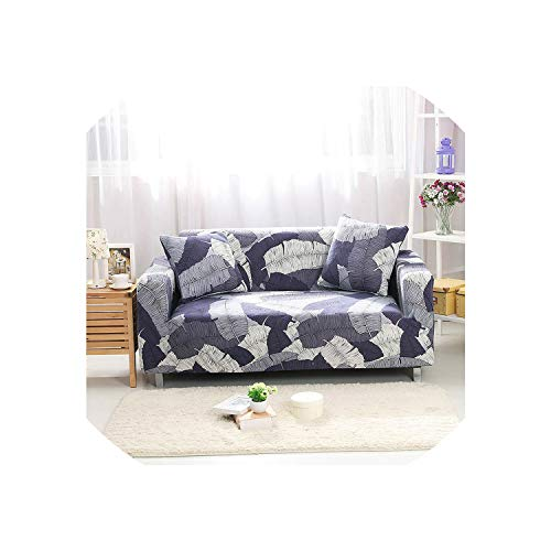 All-Inclusive Sofa Cover Tight Wrap Elastic Stretch Loveseat Couch Cover Floral Printing Corner Slipcover Capa De Sofa,Color 14,4Seater 235-300Cm