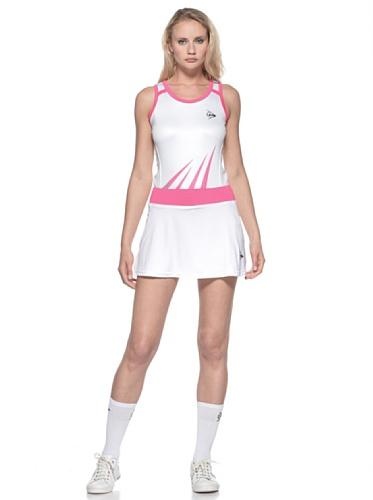 Dunlop-Ladies Skort Vestir, mujer, Bianco/Rosa, M Bianco/Rosa