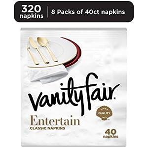 Vanity Fair Entertain Dinner Napkins, Paper Napkins