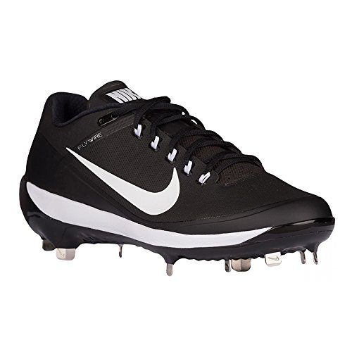 Nike Men's Air Clipper 17 Metal Baseball Cleats (Black/White, 11.5 D(M) ()