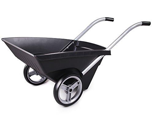 Transportkarre Zweirad Schubkarre Kunststoff Gartenkarre Carrello 120 Liter