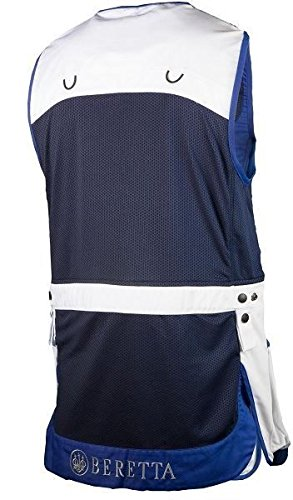 Beretta BEGT112T11300100M Men's Competition Shooting Vest, White, Medium by Beretta (Image #1)