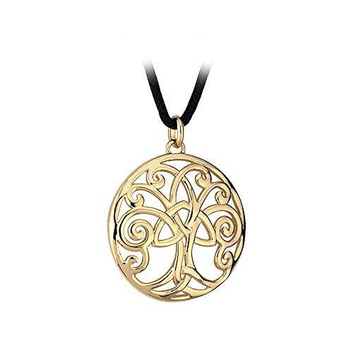 Solvar Tree of Life Necklace Gold Plated Irish Made by Tara