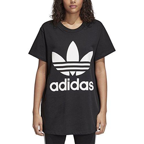 Tee Womens Logo Big (adidas Originals Women's Originals Big Trefoil Logo Tee, Black, XS)