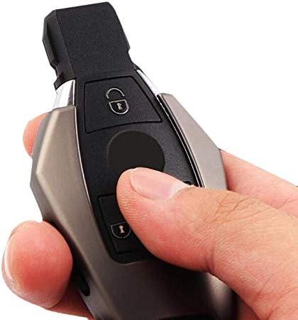 Gray, Case+Vintage Style Chain Odoland Smart Remote Key Fob Case Key Cover for Mercedes Benz B,C,E,S,GLK300,E260L CLA CLS ML GLA GLK GLC Class Keyless Key Fob