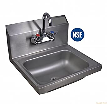 Commercial stainless steel wall mount hand Stainless steel bathroom sink wall mount