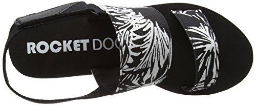 Rocket Dog Rocca, Sandalias con Cuñas para Mujer Negro (Heatwave Black)