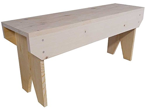 Sawdust City Wooden Bench 3ft Long (Unfinished Pine)