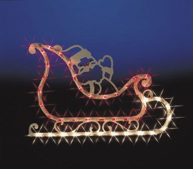 Impact Innovations Christmas Lighted Window Decoration, Sleigh