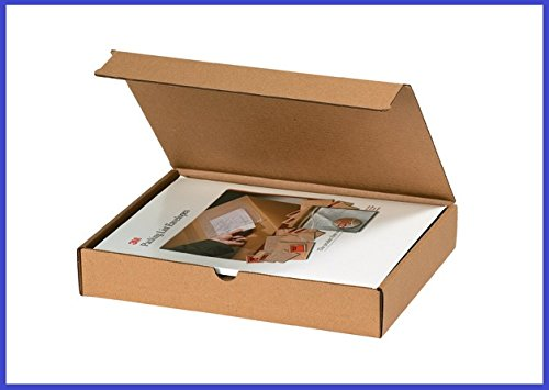BoxYeah 50 Pack - Kraft Corrugated Literature Mailer Shipping Boxes - 42 Sizes To Choose - Example (14 x 14 x 2) by BoxYeah