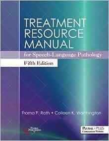 Treatment Resource Manual Speech Language Pathology