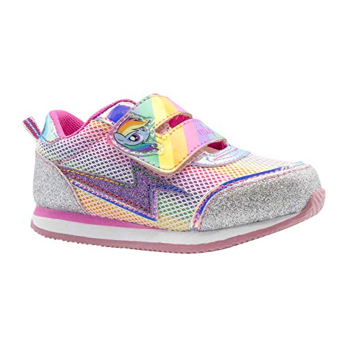 My Little Pony Shoes For Girls (My Little Pony Rainbow Dash Rainbow Silver Glitter Sneaker)